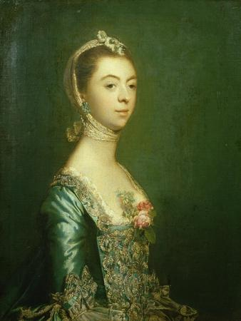 Lady North in a Blue and White Dress, 1757