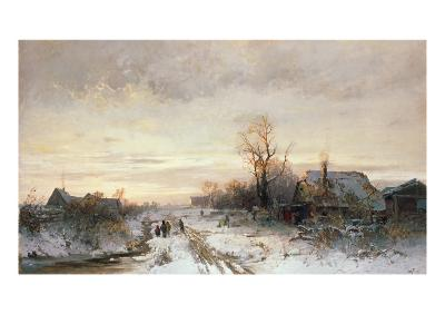 Children Playing in a Winter Landscape