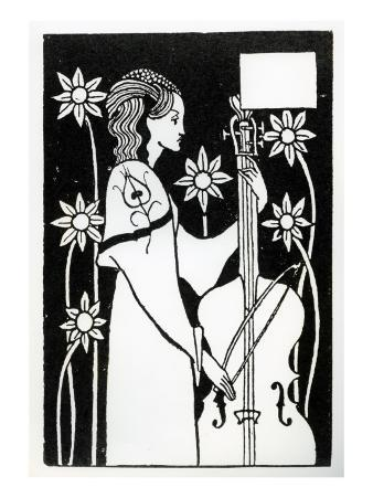 Lady with Cello, from 'Le Morte D'Arthur'