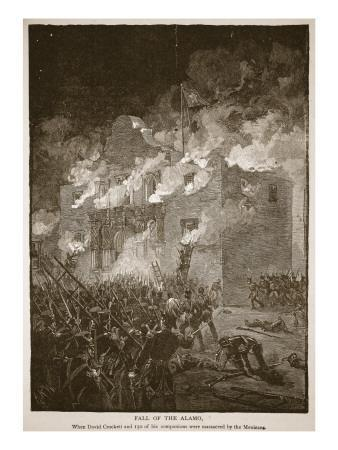 Fall of the Alamo, from a Book Pub. 1896
