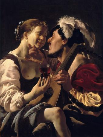 A Luteplayer Carousing with a Young Woman