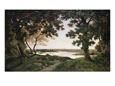 Wooded Landscape with a Sandy River, 1882
