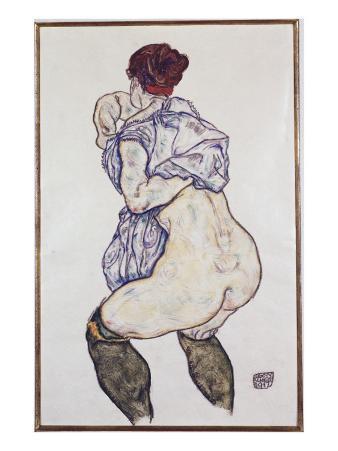 Mistress Halbakt with Green Stockings, 1917