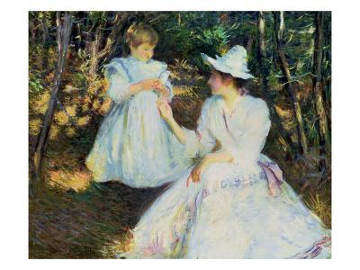 Mother and Child in Pine Woods, C.1893