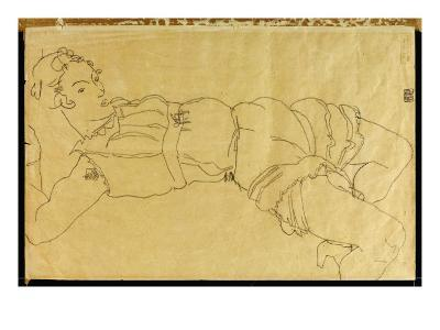 Young Woman Lying on Her Back, 1915