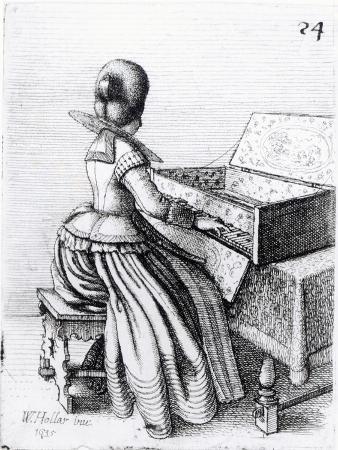 Woman Playing at a Keyboard, 1635