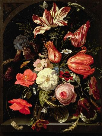 Still Life of Flowers on a Ledge