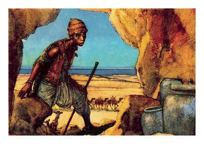 Boy Discovering the Dead Sea Scrolls