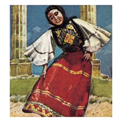 Girl in National Costume of Greece