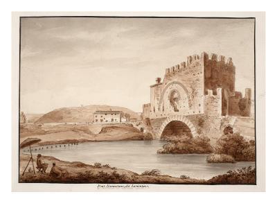 Ponte Nomentano, or Lamentano, 1833
