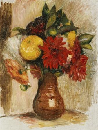 Bouquet of Flowers in a Stone Jug