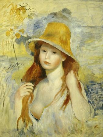Young Girl with a Straw Hat, 1884