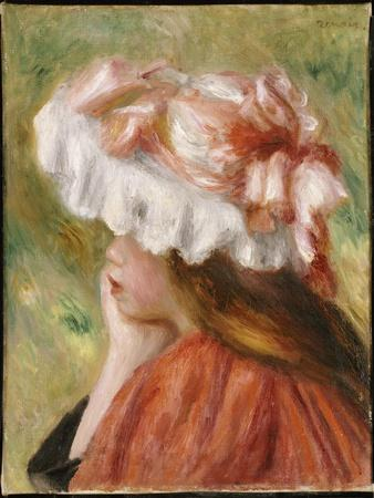 Head of a Young Girl in a Red Hat