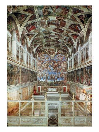 Interior View of the Sistine Chapel