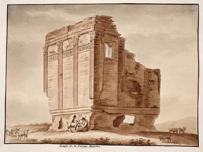 Temple of Fortuna Muliebre, 1833