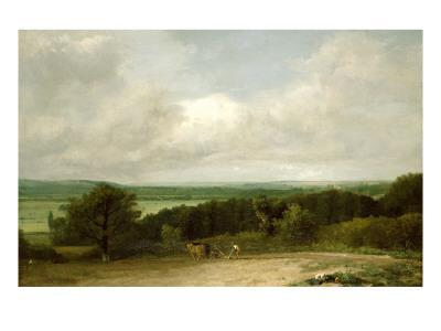 Wooded Landscape with a Ploughman