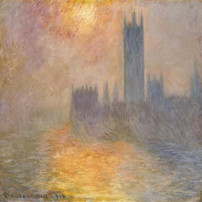 The Houses of Parliament, Sunset, 1904