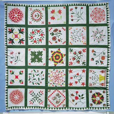 Album Quilt with Season Flowers, 1844
