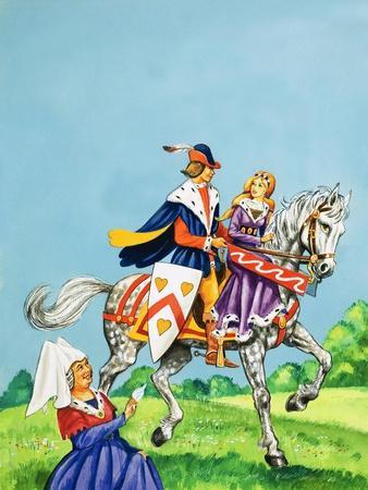 Prince and Princess on a Horse