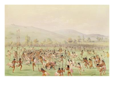The Indian Ball Game, C.1832