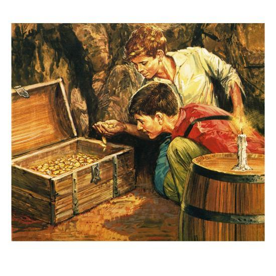 tom sawyer and huckleberry finn giclee print by english school at. Black Bedroom Furniture Sets. Home Design Ideas