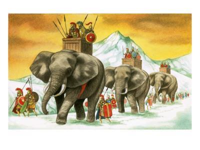 Hannibal's Army on Elephants