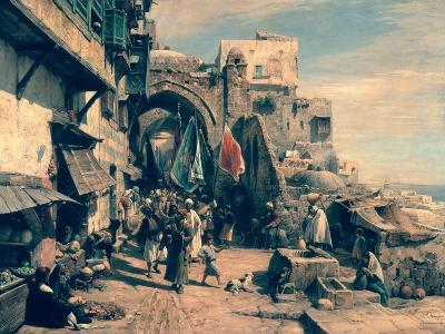 A Street Scene in Jaffa, 1890