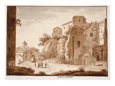 The Tarpeian Rock, 1833