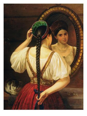 A Girl at the Mirror, 1848