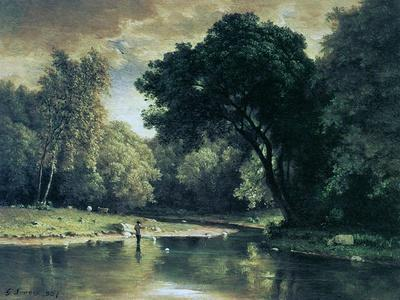 Fishing in a Stream, 1857