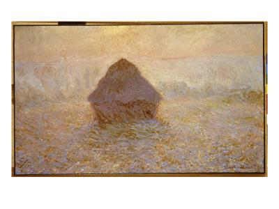 Haystacks, Sun in the Mist