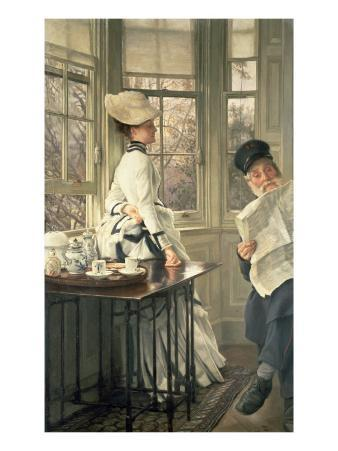 Reading the News, C.1874
