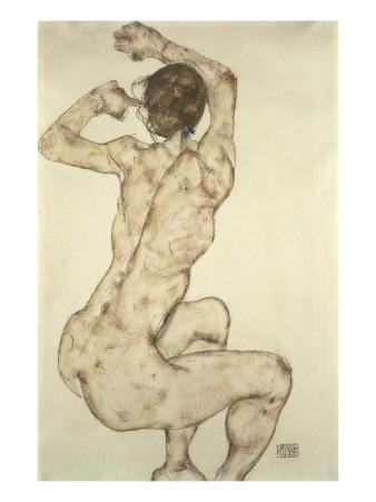 A Crouching Nude, 1915