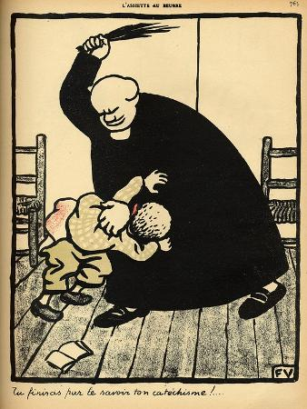 A Priest Beats a Boy