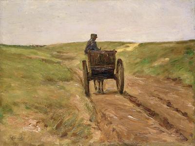 Cart in Katwijk, 1889