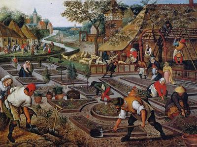 Gardening, C.1637-38