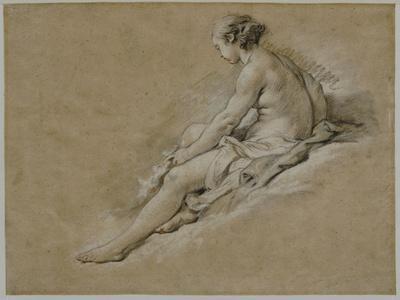 A Seated Nude Female