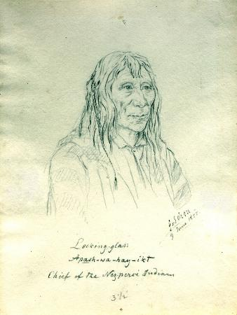 Portrait of Looking Glass Apash-Wa-Hay-Ikt Chief of the Nez Perce Indians