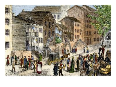African-American Residents of the Negro Quarter in Cincinnati, Ohio, About 1880