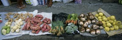 High Angle View of Vegetables in a Market, St. Lucia, Windward Islands, West Indies