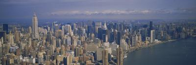 Aerial View of Skyscrapers on the Waterfront, Manhattan, New York City, New York State, USA
