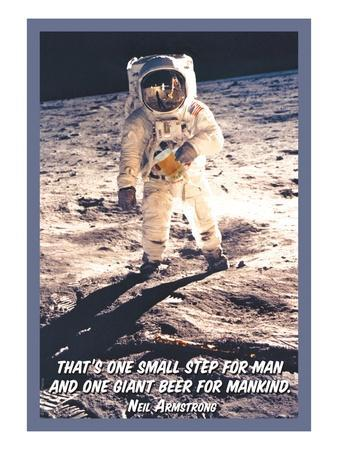 That is One Small Step for Man and a Giant Beer for Mankind
