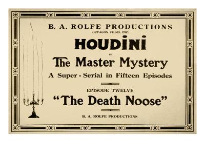 Houdini in the Master Mystery a Super-Serial in Fifteen Episodes