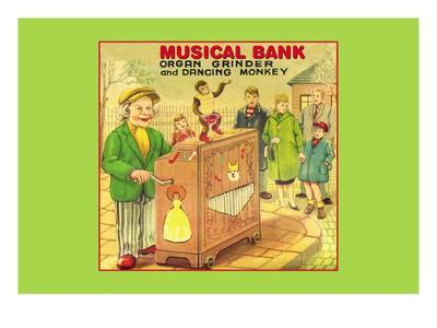 Organ Grinder Musical Bank