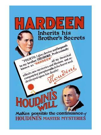 Hardeen Inherits His Brother's Secrets