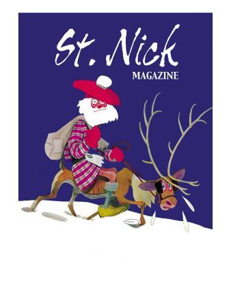 Skinny Scottish Santa Rides on Reindeer