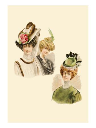 Rose and Fur Caps