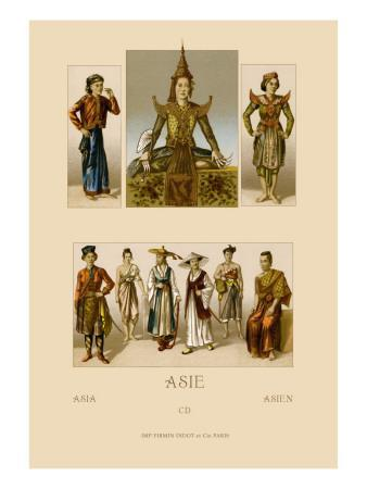 Variety of Asian Costumes
