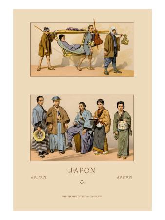 Japanese Civil Costumes and Transportation