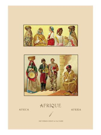Variety of African Costumes